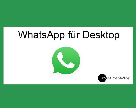 WhatsApp fuer Desktop